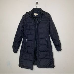 Michael Kors Black Quilted Hooded Puffer Jacket